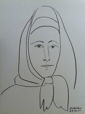 Pablo PICASSO : LA FEMME D'ESPAGNE # LITHOGRAPHIE SIGNEE # CERCLE D'ART #1960