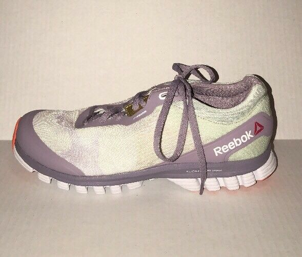 New Reebok Sublite Super Duo Wow Size 8.5M Women's Running Shoes Lavender White