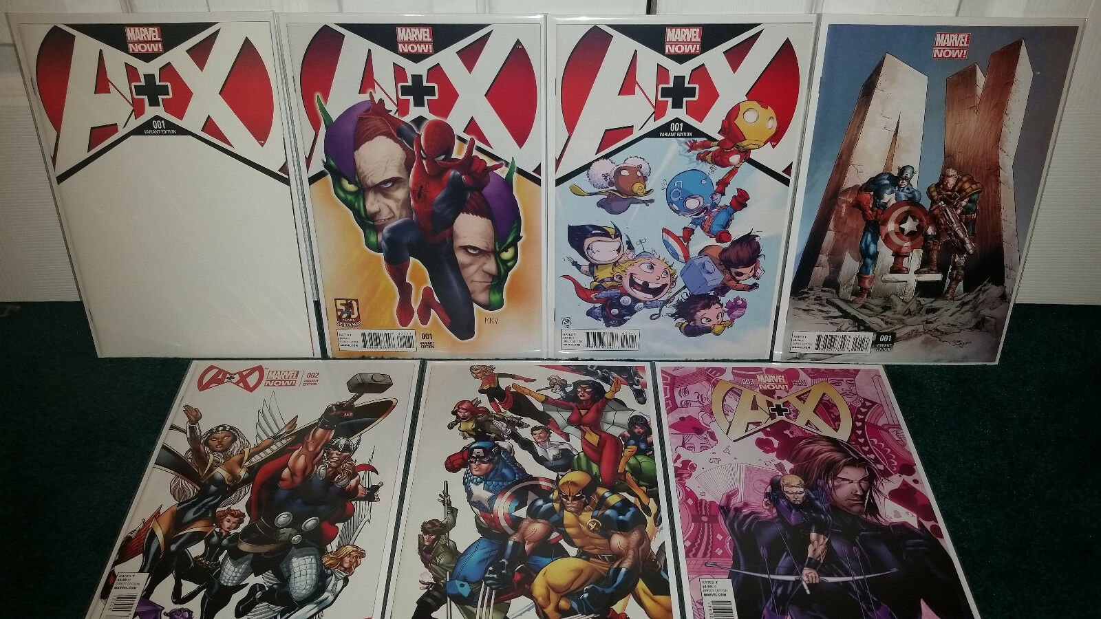 A+X  001  1-3 Variant Cover Lot Blank Babies 50th Deodato  2  3 Mcguinness +