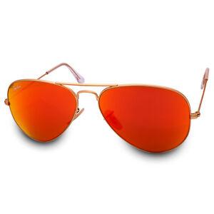 1e22f7e335586 Ray Ban RB3025 112 69 Aviator Gold Orange Mirror Flash Sunglasses ...