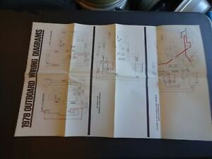 1978 Johnson Evinrude Outboard Motor Wiring Diagram poster chart 4 6 9.9 15  HP | eBayeBay