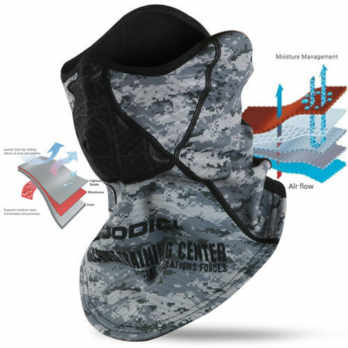 4019e63f616 [DODICI] RSRF-3D-C Mask Fleece Windproof Outdoor Winter Sports Safety  Reflective