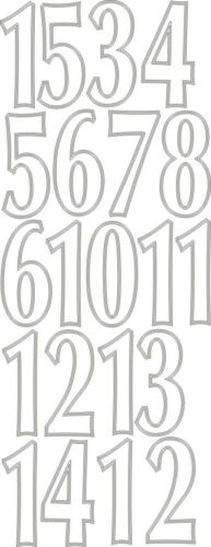 Vinyl 9 Inch  Iron on Numbers Pack of 1-15 Choice of 15 Different Colours