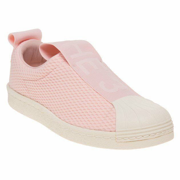 New Womens adidas Pink Superstar Court Slip On Nylon Trainers Court Superstar 9ffd70