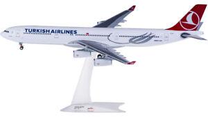 1:200 32CM Herpa TURKISH AIRBUS A340-300 Passenger Airplane ABS Plastic Model