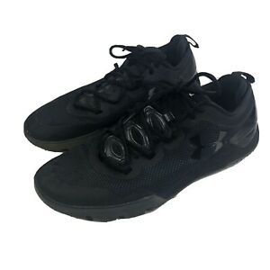 Mens-12-Under-Armour-UA-Charged-Ultimate-Iced-Tonal-Training-Shoes-Black-Low-Top