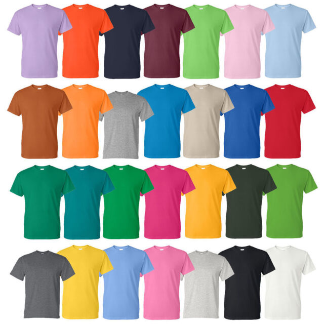 5295b0d32 Gildan Men's DryBlend 50/50 T-Shirt (Pack of 5) Bulk Lot Solid Blank 8000  NEW