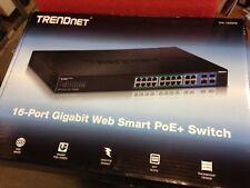 TRENDnet 8-Port Gigabit EdgeSmart PoE tpe-tg44es tpetg44es Switch