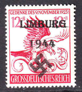 GERMANY B289 LIMBURG OVERPRINT OG NH U/M F/VF BEAUTIFUL GUM
