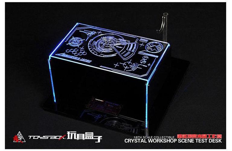 Toys-Box 1/6 Scale Crystal Workshop Scene Test Desk