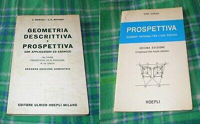 Geometria Descrittiva E Prospettiva Hoepli 2 Libri Ebay