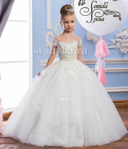 f6d705354f Image is loading Vintage-Pearls-Princess-First-Communion-Dress-for-Girls-