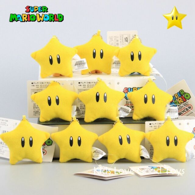 10x Super Mario Galaxy Plush Luma Star Soft Toy Stuffed Cuddly Doll 6cm  Keychain for sale online | eBay