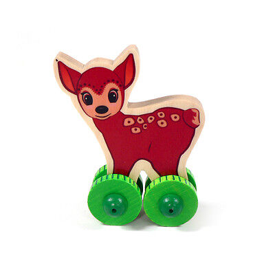 "Baby # To Help Digest Greasy Food Other Toys For Baby Hess 10863 Rolli "" Deer "" Funny Rolltier Wood From The Erzgebirge New"