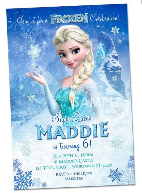 Frozen Party Supplies collection on eBay – Party Invitations Frozen