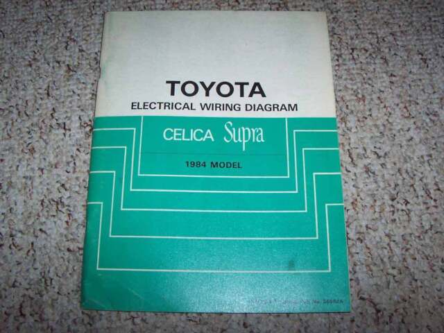 1982 Toyota Celica Supra Owners Manual User Guide Gt St