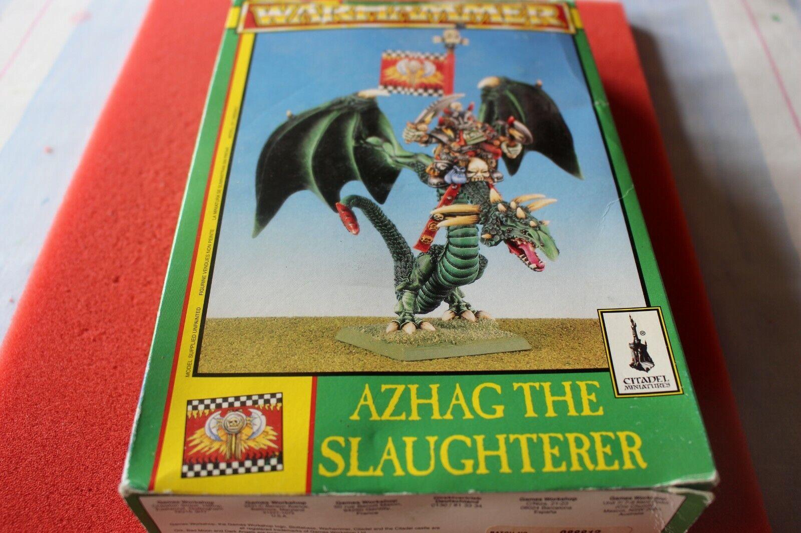 Games Workshop Warhammer azhag  the Slaughterer ORCS Dragon Orc Neuf dans sa boîte Metal Épuisé nouveau  jusqu'à 70% de réduction