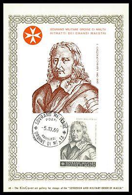 Malteserorden Smom S.m.o.m Mk 1969 Großmeister Carte Maximum Card Mc Cm Cv52 Angenehme SüßE Europa