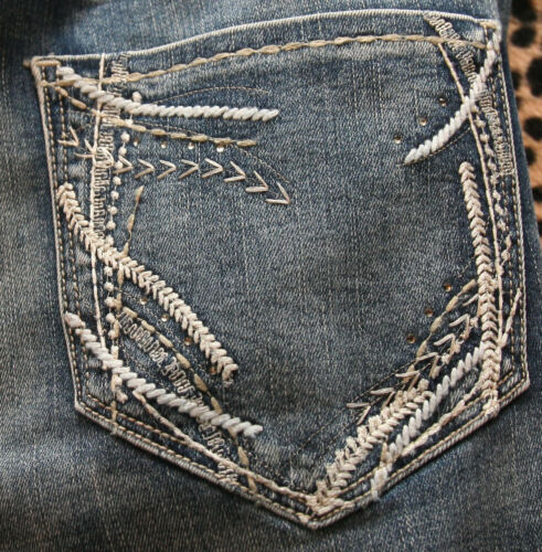 Stitching Taglie 18 Jeans Maurices Isle Tasche Fair forti Tasche Paillettes appAq4w7