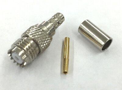 NEW Mini UHF Male RG-58A//U 3 Pieces Black MU7246