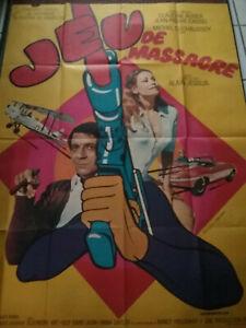Affiche Cinéma 1967 - JEU DE MASSACRE - Jessua Cassel Duchaussoy Régine 120/160