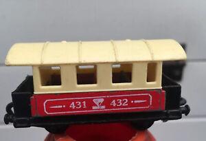 Matchbox-Eisenbahn-Lesney-Nr-44-Passenger-Coach-Zug-Waggon-Railway-Rail-Train