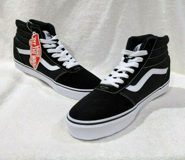 Suede Canvas Hi Top Skate Shoes
