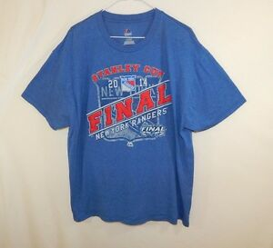 New-York-Rangers-2014-Stanley-Cup-NHL-Hockey-T-Shirt-Majestic-EXTRA-LARGE-XL