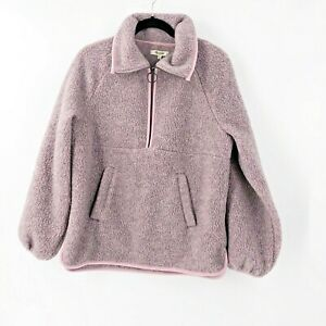 Madewell-Recycled-Polartec-Fleece-Jacket-Size-Medium-Pullover-Style-L9588