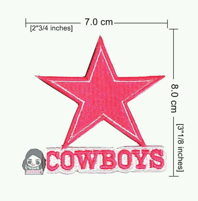 Dallas Cowboys Pink Football Sprot Logo Embroidery Iron Sewing Patch