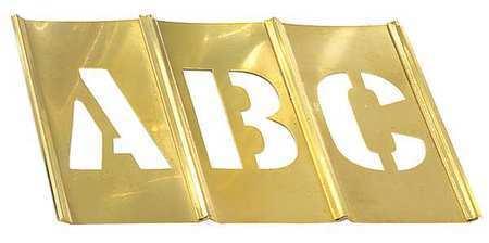 HANSON 10034 Stencil Set,Letters Punctuation,Brass C.H