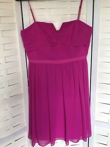 Details About Coast Bright Pink Dress Gown Size 16 Wedding Guest Prom Ball Cruise