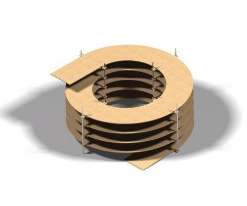 Binario Elicoidale per H0 Binari 2-galleggianti 8mm Spessore 1-5,5 Rotazioni