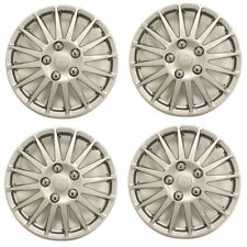 "Solus 15"" Car Wheel Trims Hub Caps Plastic Covers Set of 4 Silver Universal"