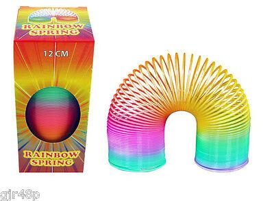 Magic Rainbow Spring 12 CM Tall SPRING Childrens RETRO Toy Multi-Coloured Fun
