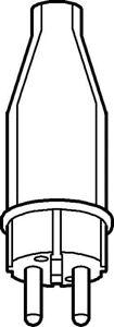 Merten Vollgummi-Stecker 123851 IP44 schwarz SCHUKO-Stecker Gummi - Hamburg, Deutschland - Merten Vollgummi-Stecker 123851 IP44 schwarz SCHUKO-Stecker Gummi - Hamburg, Deutschland