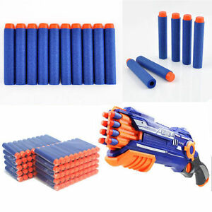 Blue 200PC Kid Refill Toy Gun Bullet Darts Round Head Blasters For NERF N-Strike