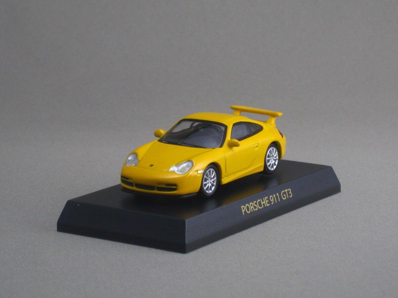 PORSCHE 911 GT3 Yellow Kyosho 1 64 Scale Diecast Model Car