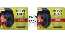 2 X raíces orgánico aceite de oliva relajador de cabello ALISADORA SIN LEJÍA Extra (Twin Pack)