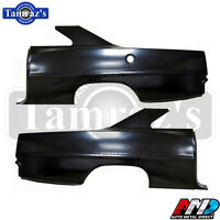 66-67 Chevy Ii Nova Full O.e. Style Rear Quarter Panel W/ Sail - Pair - Amd