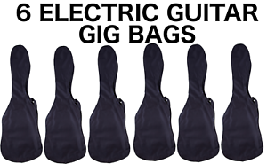 FREE-SHIPPING-6-Six-Pack-Electric-Guitar-Gig-Bag-Case-Full-Size-Cases