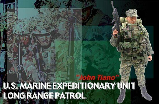 Action Figure 1/6 Dragon John Tiano US Marine Unit Long Range - Soldier Story