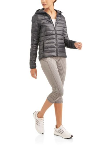 Women/'s Active Lightweight Hooded Running Puffer Jacket Pick your Size