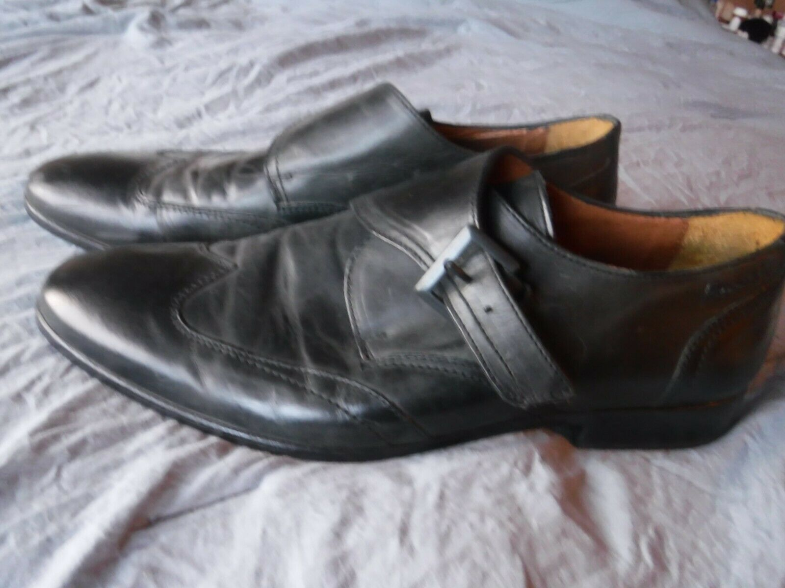 Mens Kenneth Cole Black Shoes Size 11 1/2 Pre OWned