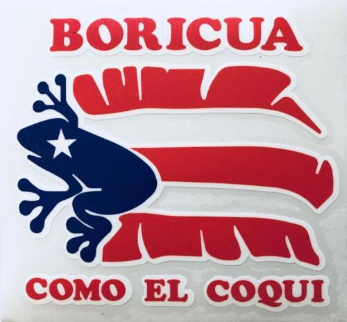 PUERTO RICO BORICUA COMO EL COQUI IN PLATANO BANANA LEAVES DECALS STICKERS