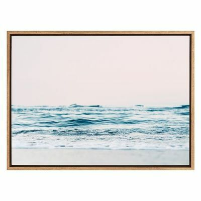 Wave Roll Framed Canvas Print