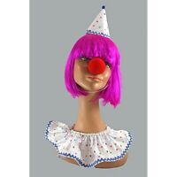 Clown Costume Ruffle Hat And Nose Accessory Kit 3 Pc Clown Costume Accessory