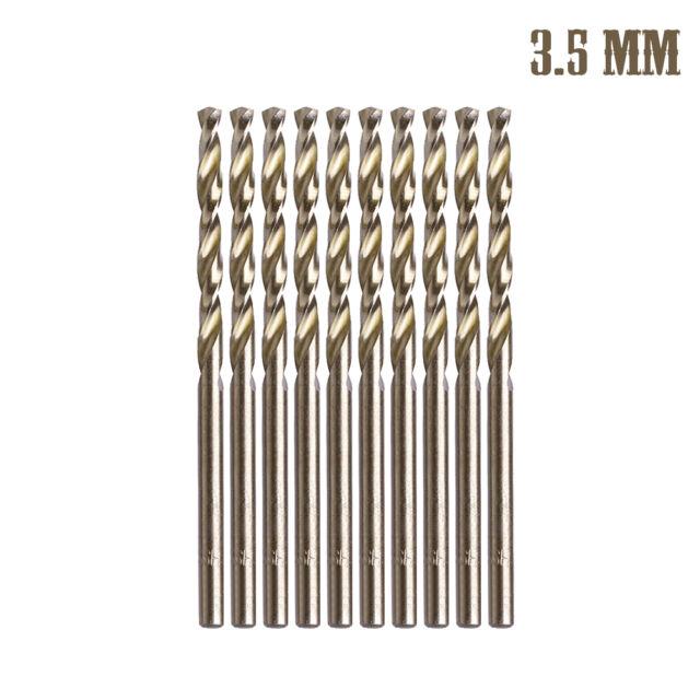 10Pcs M35 Triangle Shank HSS-Co Cobalt Twist Drill Spiral Drill Bit 1mm-5mm New