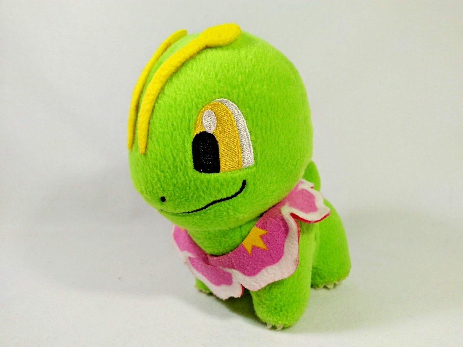 Pokemon Bayleef Plush Doll Stuffed Toy UFO Banpresto Banpresto Banpresto 2001 Japan Meganium Evo 2dc2f0