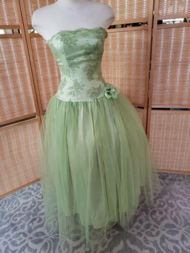 Vtg Jessica McClintock  Gunne Sax Green fairy prom